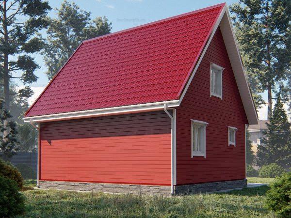 Проект каркасного зимнего дома 8х7 для строительства под ключ