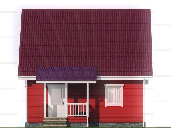 Загородный дом для проживания 8х7 фото 3