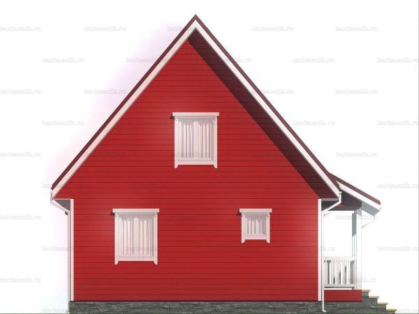 Загородный дом для проживания 8х7 фото 4