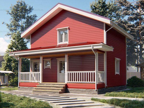 Двухэтажный дом для проживания 8х6