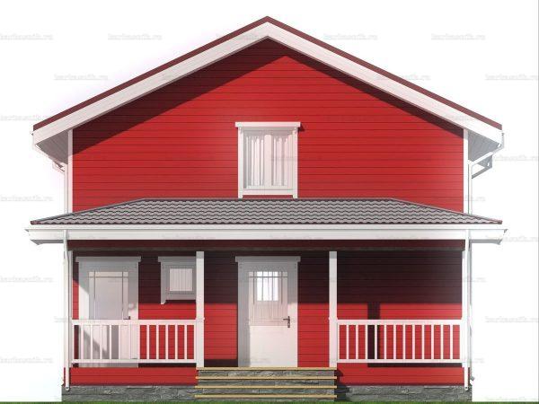 Двухэтажный дом для проживания 8х6 фото 3