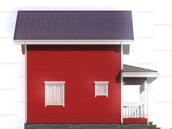 Двухэтажный дом для проживания 8х6 фото 4