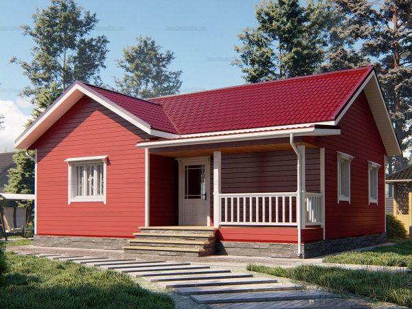 Дом для проживания с тремя комнатами 10х8.5