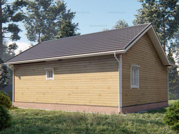 Проект деревянного коттеджа 10х8.5 из бруса для постоянного проживания зимой