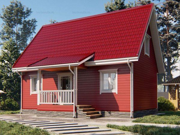 Дом для проживания с туалетом 6х9