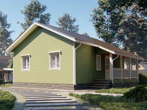 Дом для проживания с санузлом 9х7.5