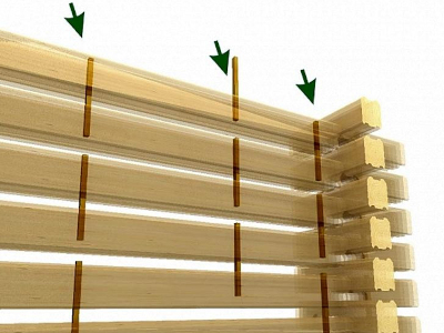Сборка на деревянные нагеля