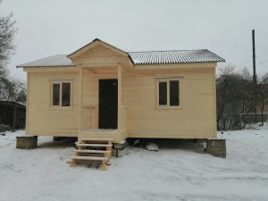 Готовый объект – каркасный дом 8х6 под ключ (фото 1.)
