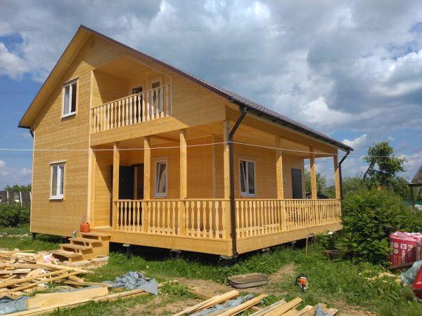 Дом из бруса 10х8 Дедовск