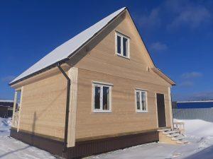 Готовый объект – дом из бруса 8х8 под ключ (фото 1.)