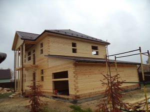 Готовый объект – дом из бруса 10х9 без отделки (фото 1.)