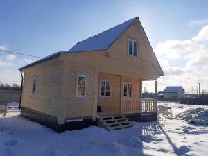 Готовый объект – дом из бруса 8х8 под ключ (фото 2.)