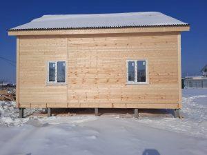 Готовый объект – каркасный дом 8х8 под ключ (фото 1.)