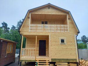 Готовый объект – дом из бруса 6х8 под ключ (фото 1.)